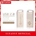 YUFANYF Pendrive 16GB USB 2.0 High Speed Metal USB Flash Drive 32GB Real Capacity Pendrive USB Stick Customized Flash Drive USB