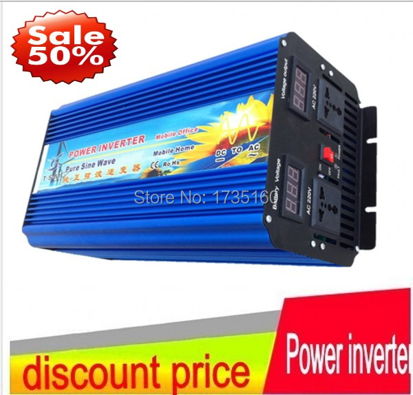 цена на DHL FedEx free shipping High efficient pure sine wave power inverter 24v to 230v 220v 3500w(peak 7000w) power supply