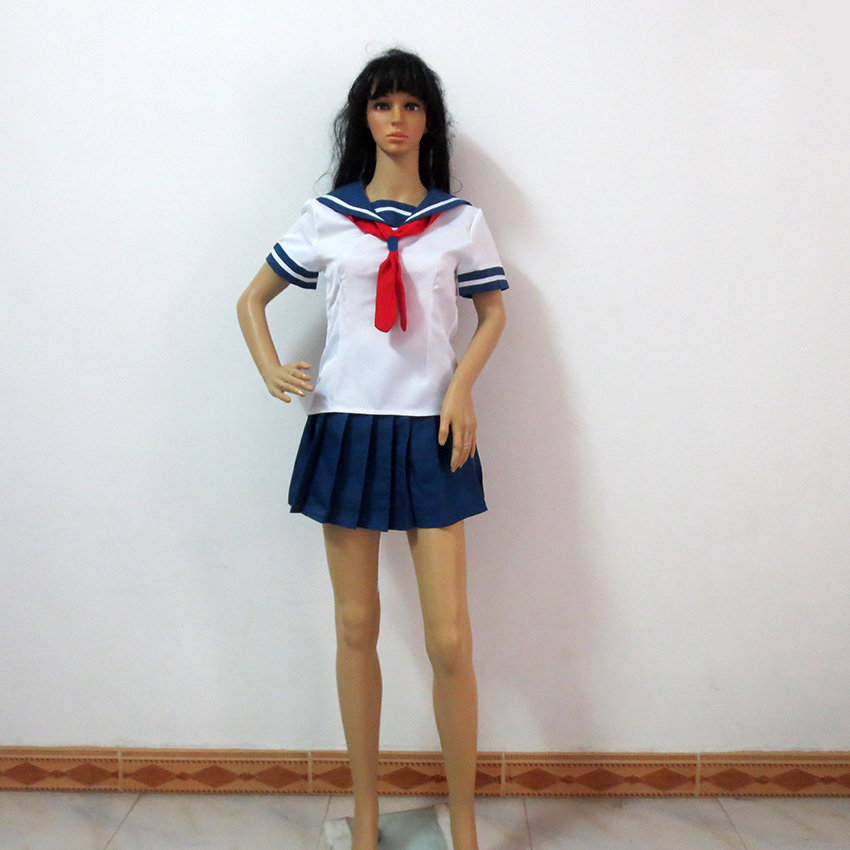 US $39 1 15% OFF|Yandere Simulator Yandere Costume Adult Women Halloween  Carnival Game Costume Cosplay Costume Custom Made Any Size-in Game Costumes