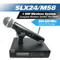 Free Shipping by DHL FEDEX to US EUR. SLX SLX24 M58 UHF Handheld Wireless Microphone System For Vocal Karaoke Stage Party Show