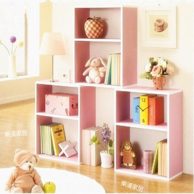 Korean Children Bookcase Student Locker Shelves Display Showcase Home Office  Bookcase Ikea Minimalist Specials