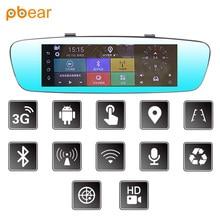 Pbear Coche DVR 7 Pulgadas Android 5.0 sistema Del Coche Trasero Espejo retrovisor de Navegación GPS + Bluetooth + pantalla Táctil + Wifi + Copia de Seguridad cámara