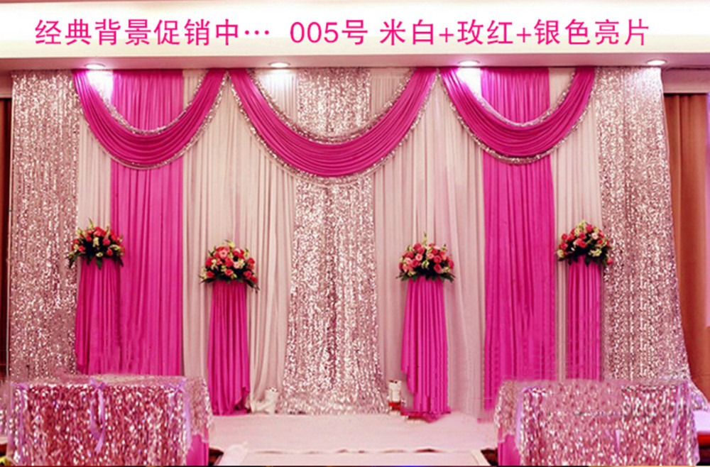 aliexpress com buy express free shipping wedding stage backdrops Wedding Background Stage Designs aliexpress com buy express free shipping wedding stage backdrops decoration romantic wedding curtain with swags sequins,photography background js67 from wedding background stage designs