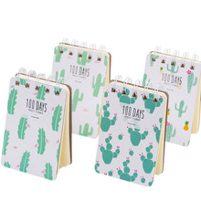 1pc/lot Simple Literary Cactus Loose-leaf Coil Netebook Cute Small Memo DIY Diary Notebook Stationery Student Supplies Gift Gift(China)