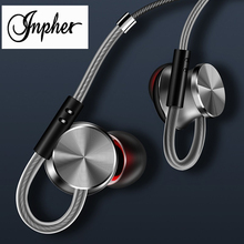 лучшая цена Inpher W3 in-ear 3.5mm earphone headset for mobile phone earbuds sport earphone stereo earphones with microphone fone de ouvido