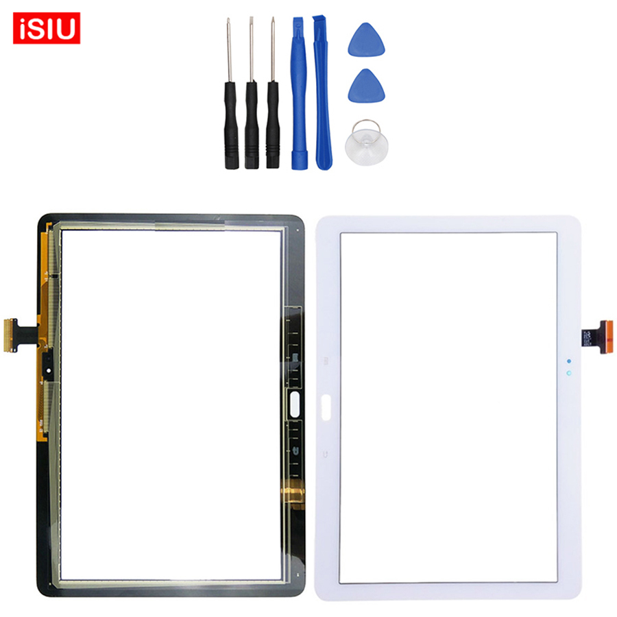 Nouveau 10.1 pouce Pour Samsung Note 10.1 2014 Édition P600 P601 P605 SM-P601 LCD Écran Tactile Lentille En Verre Extra-Atmosphérique Avant Panneau + outils