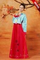 2016 Doğrudan Satış Sıcak Satış Polyester Kadın Dans Kostümleri Hmong Elbise Antik Çin Kostüm Hanbok Kore kadın Giyim
