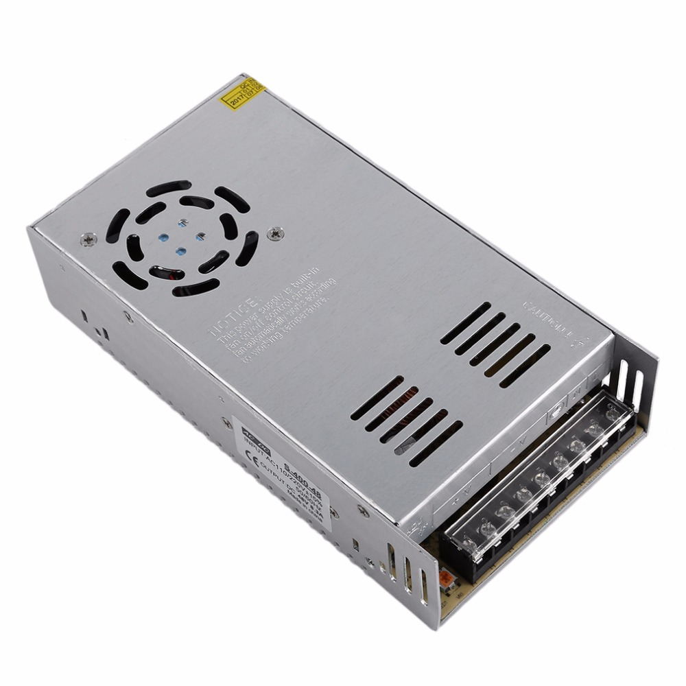 Universal DC48V 8.3A Regulated Switching Power Supply Transformer Switch AC to DC For LED Strip Light CNC CCTV 2017 Top Sale 18v 11a 200w switching switch power supply for led strip transformer 110v 220v ac to dc smps with electrical equipment