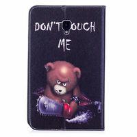 leather flip Fashion Animal Owl Bear Flip PU Leather Case For Samsung Galaxy Tab A 8.0 T380 T385 2017 8.0 inch Smart Cover Cases Funda Shell (4)