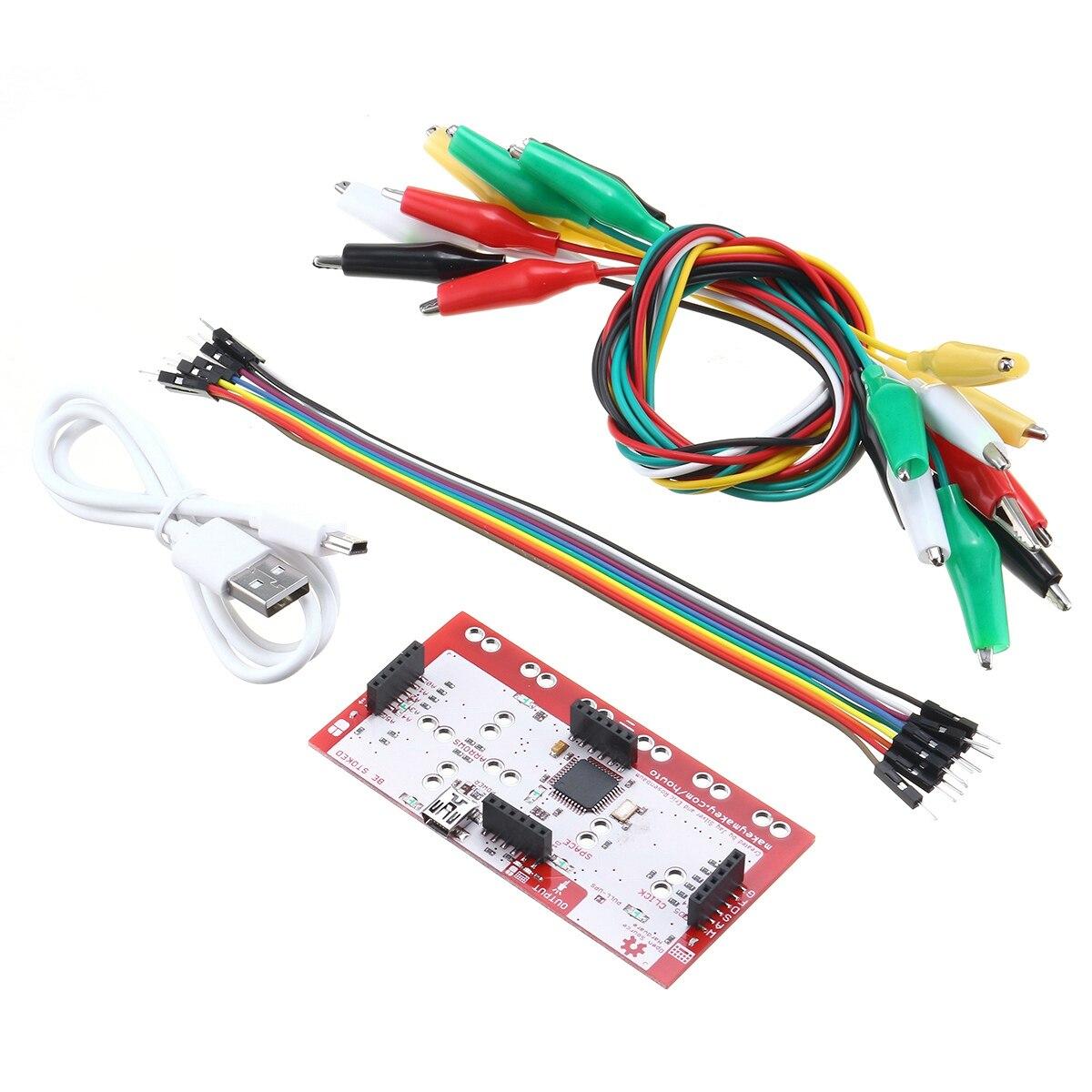 SHGO-Alligator Clip Jumper Wire Standard Controller Board DIY Kit for MakeySHGO-Alligator Clip Jumper Wire Standard Controller Board DIY Kit for Makey