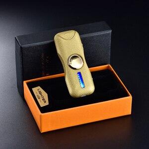 Image 4 - 2018 Mới Hồ Quang Kép Tay Spinner Nhẹ Hơn Gyro Toy Fingertip Nhẹ Hơn USB Sạc Windproof Nhẹ Hơn Sạc Điện Tử Plasma