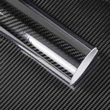 1 stück 50*200 cm Schwarz 5D Carbon Faser Vinyl Film Auto Wrap Film 5D Rolle Auto Aufkleber Auto sport Außen Zubehör Film