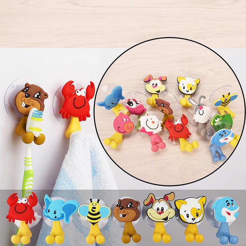 Gorąca sprzedaż 12 style zwierząt Cute Cartoon Animals przyssawka uchwyt na szczoteczkę do zębów akcesoria łazienkowe zestaw uchwyt ścienny z przyssawką narzędzia