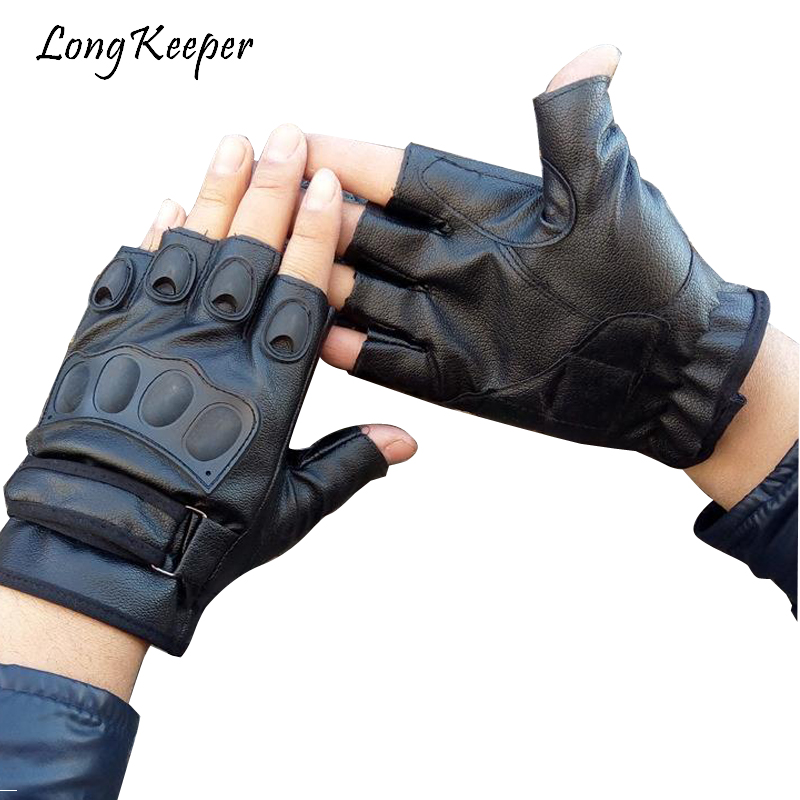 Long Keeper New Mr Right Military Tactical Gloves Leather Men Luvas For Body Building Training Half-finger Mittens tatica guante