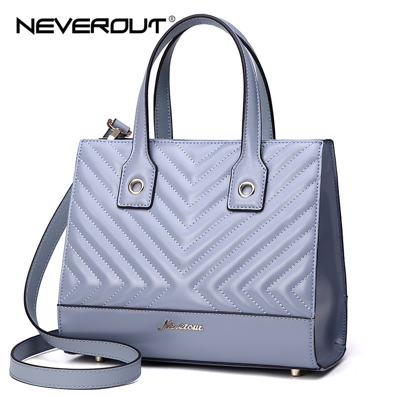 NeverOut 2 Color Luxury Brand High Quality Bags Solid Split Leather Handbag Women Lady Handbags Tote Shoulder Sac Evening Bag new split leather snake skin pattern women trunker handbag high chic lady fashion modern shoulder bags madam seeks boutiquem2057