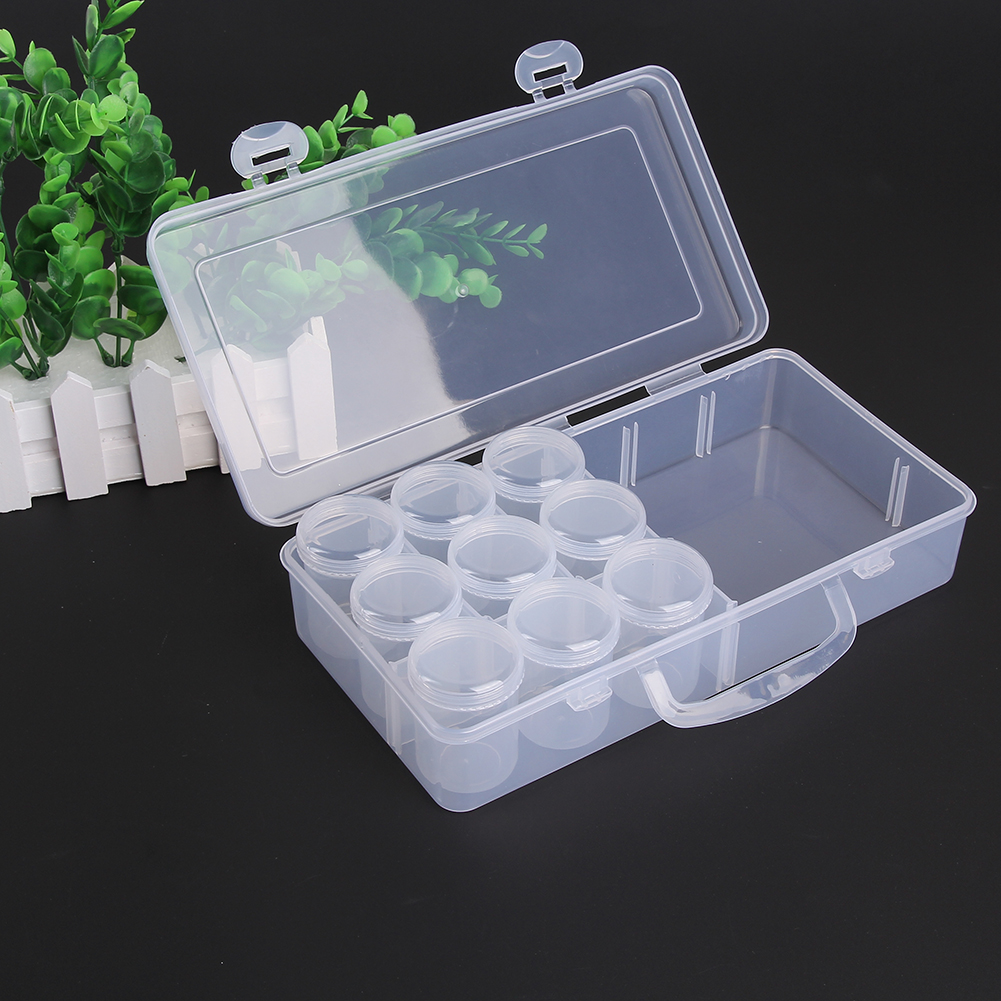 Portable Tavel Transparent Plastic Storage Case With Inner Compartments Fishing Tackle Box Lures Bait Storage Small Objects Box