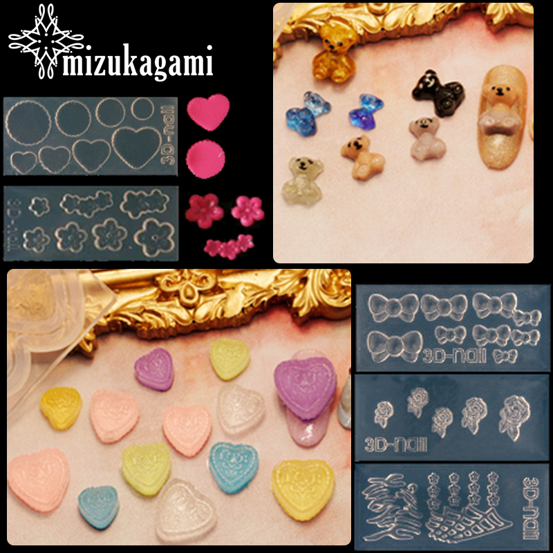 1pcs UV Resin Jewelry Liquid Silicone Mold Flowers Heart Bowknot Charms Pendant Molds For DIY Decorate Making Jewelry