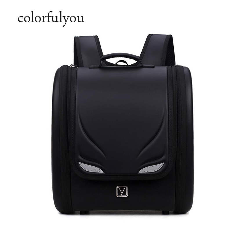 Ортопедические детские школьные сумки для девочек и мальчиков, детский рюкзак с изображением глаза монстра, японский водонепроницаемый рюкзак из ПУ кожи|Школьные ранцы| | АлиЭкспресс