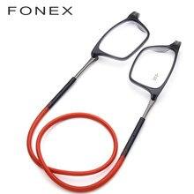 beb724636 Atualizado Ímã Óculos de Leitura Das Mulheres Dos Homens Ajustável  Pendurado No Pescoço Quadrado Magnético Óculos Para Presbiopi.