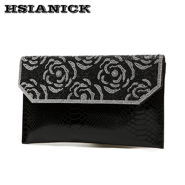 Clutch 2018 summer fashion new flower diamond design clutch handbag dinner  envelope bag rhinestone shoulder bag messenger bag 0b3624d0029b