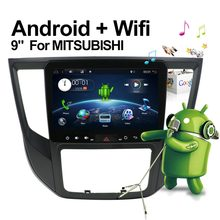2din Android 9.0 Car DVD for Mitsubishi Lancer 2017 Pajero 2017 9 inch3G/4G GPS radio video player with Capacitive screen SWC BT(China)