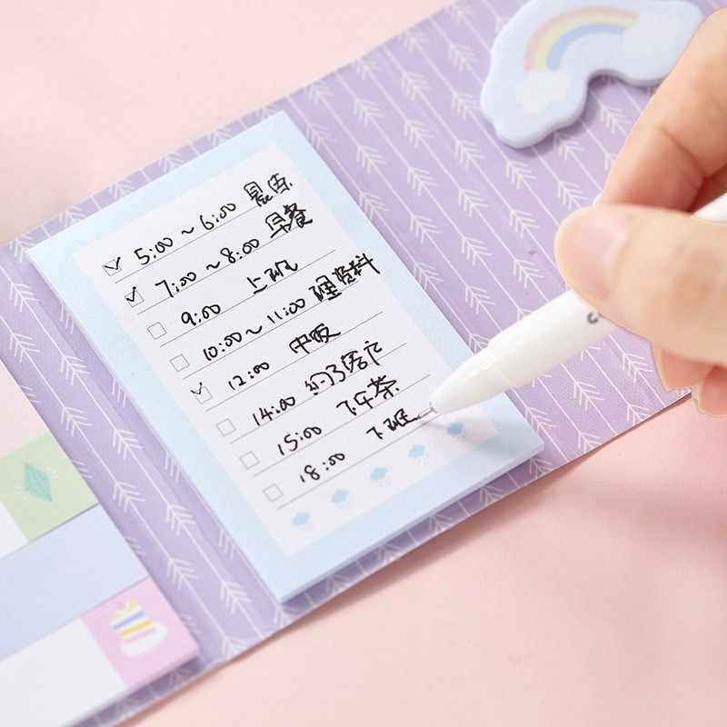 Kawaii Мультфильм самоклеящийся липкий блокнот для заметок Еженедельный планировщик наклейки милый блокнот офисные школьные канцелярские принадлежности 02073