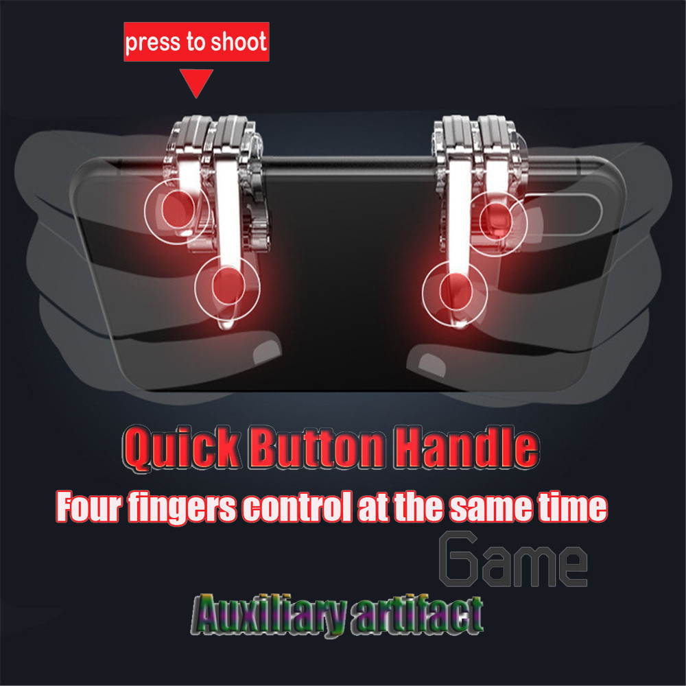 Drop Shipping Phone Mobile Gaming Trigger Fire Buttons Handle for L1R1 Controller PUBG gamepad joystick Games and Accessories 3 image