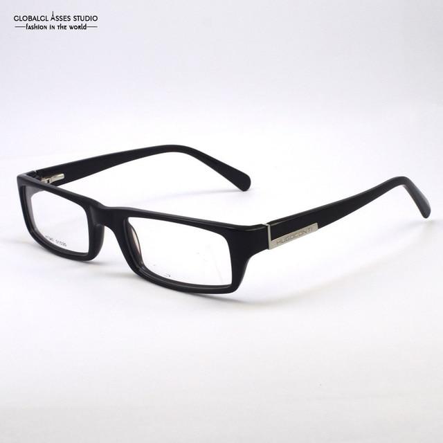 377a55522eb Popular Men Spring Hinge Black Full-Frame With Metal Decoration on the legs  Business  Classic  Glasses   Eyeglasses Frame H1343