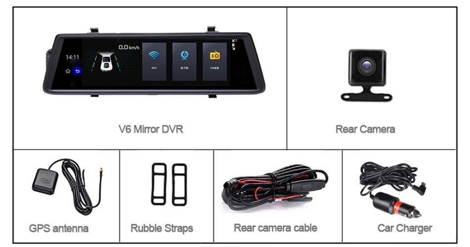 Phisung-V6-car-dvrs-10-Touch-Android-5-0-GPS-Navigators-FHD-1080P-video-recorder-mirror