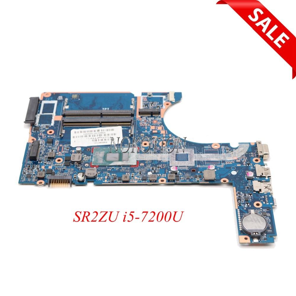 NOKOTION 907712-601 mère D'ordinateur Portable Pour HP 450 G4 470 SR2ZU i5-7200U CPU DA0X83MB6H0 Carte Principale test complet