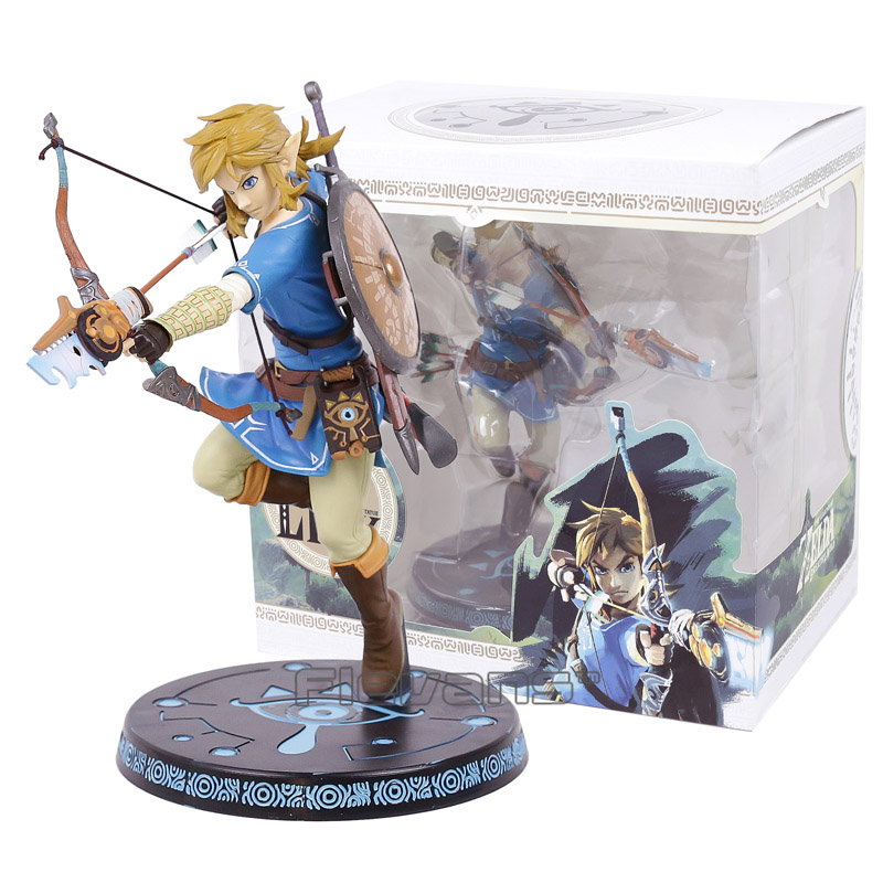 The Legend of Zelda Breath of the Wild Link Statue PVC Painted Figure Collectible Model Toy 10inch