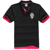 Fashion Juventus Polo Shirt Men Mesh Cotton Lapel Short Sleeve Causal Shirt Classical Juventus Colorful Polos