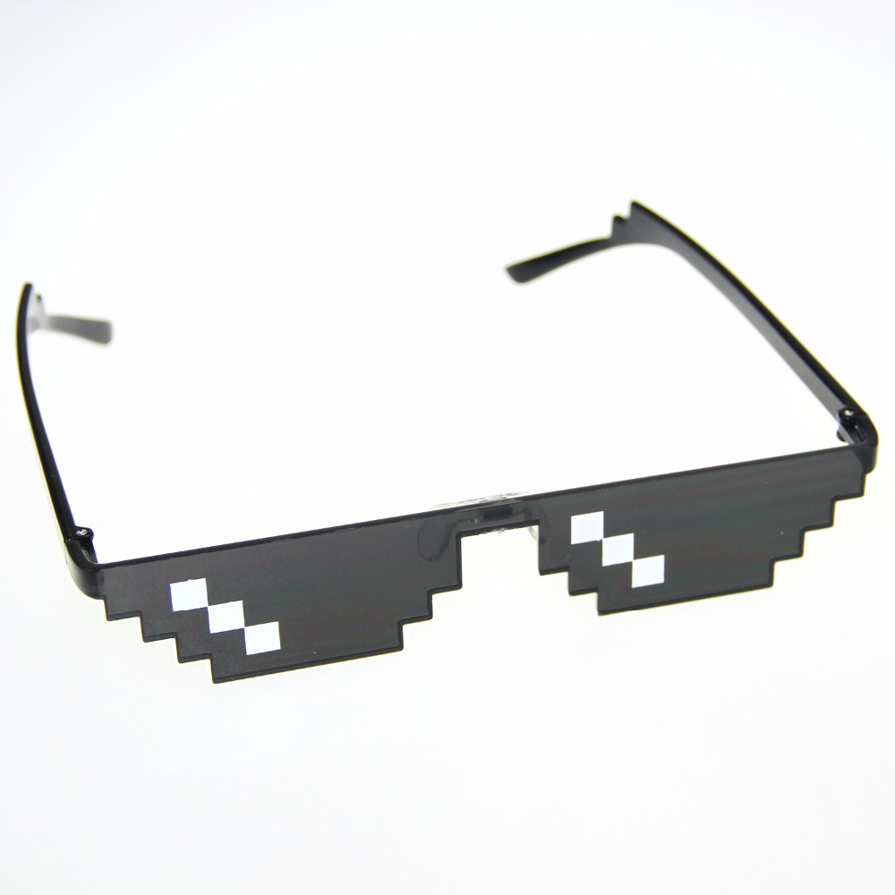 Thug Life Glasses 8 Bit Pixel Deal With IT font b Sunglasses b font Unisex font