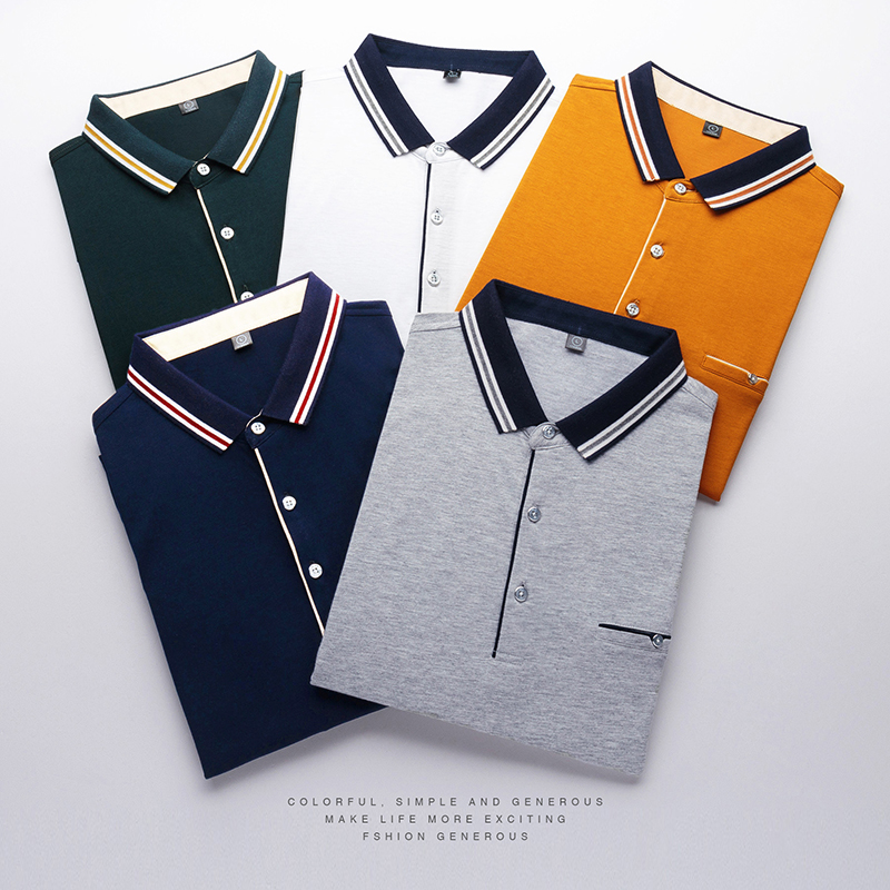Brand Polo Shirt Men Business Casual Short Sleeve Polo Shirts Camisetas  Stripe Lapel Mens Designer Polos Camiseta 3XL 1b212edeb