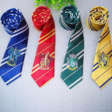Hogwarts School Badge Tie Cosplay Costume Accessories Men Necktie College Style Teenagers Tie Gryffindor Series Women Gift Kids(China)