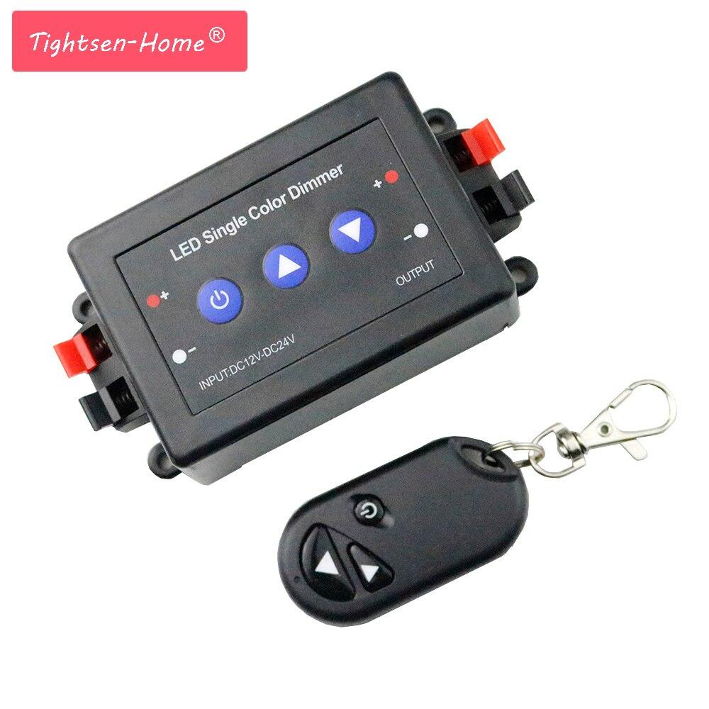 Led Dimmer Controller 3 Key RF Wireless Brightness 12-24V For 3528 5050 5630 Single Color 12v Led Strip Light 12v 96w/24v 192w