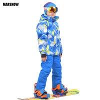 Snowboard Jacket and pants 110 160 Children's winter set Kids Baby sport windproof waterproof warm coats snow Ski suit for boys