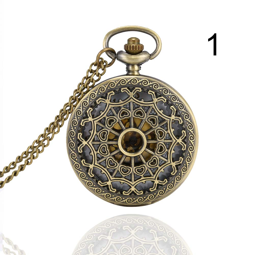 Fashion Unisex Pocket Watch Alloy Openable Hollow Carve Vintage Men Women Quartz Necklace Pendant Chain Clock Gifts LXH chinese zodiac bronze pig quartz pocket watch necklace pendant carving back for women men gifts lxh