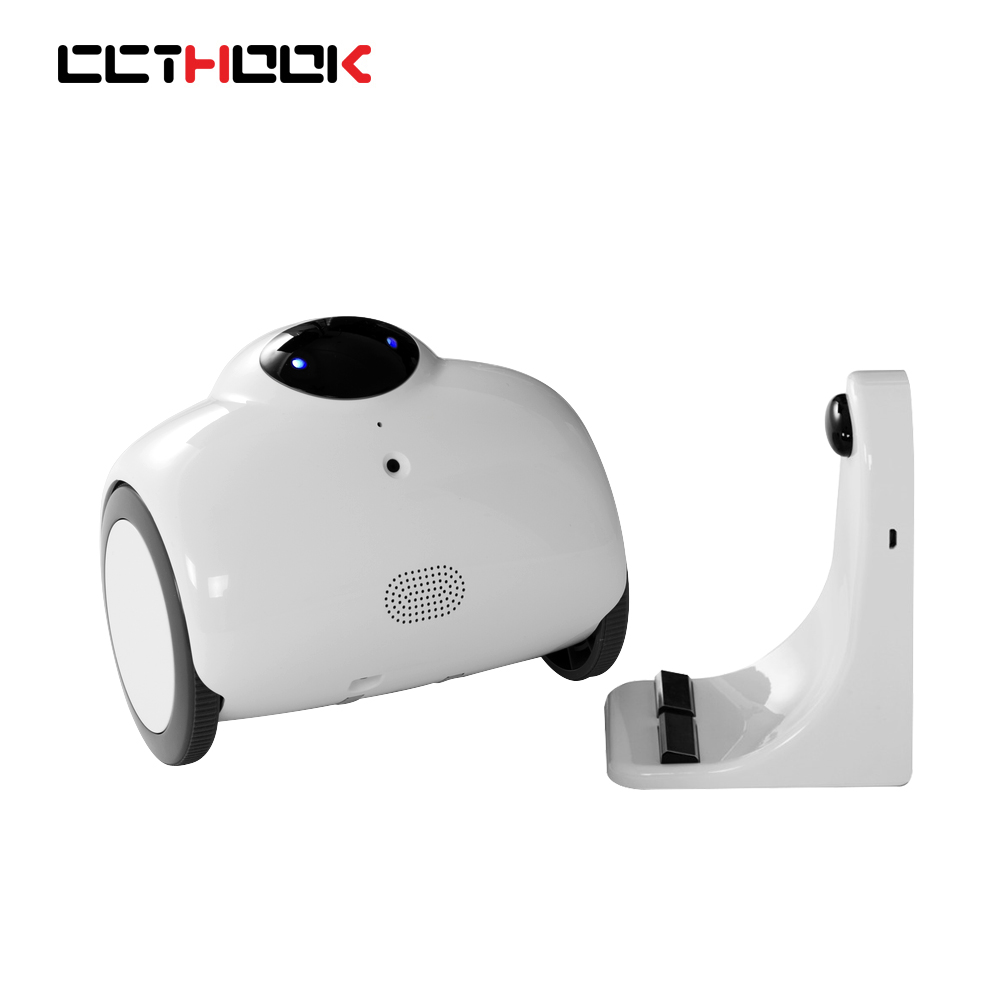 WIFI Family Robot Baby Monitor 720P Night Vision with Remote Control & 2-Way Voice Intercom Modified Tone & Automatic Charging