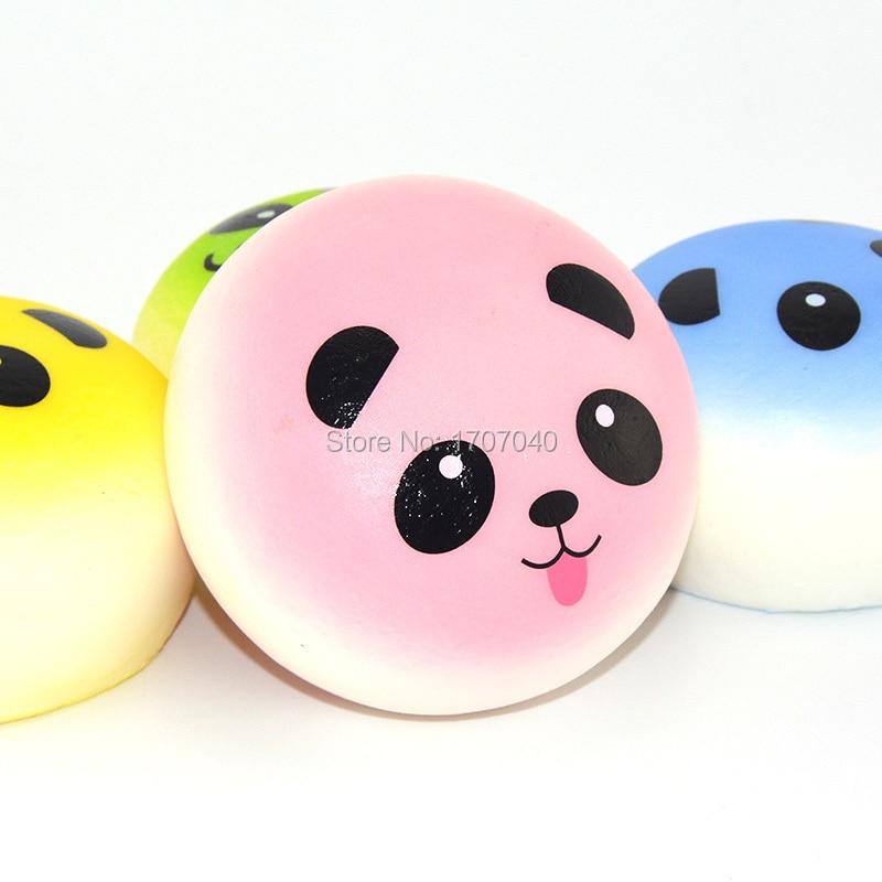 Squishy Mushy Panda : 20 Pieces/lot Kawaii Squishy Cartoon Colorful Panda Bun Kid Toy Simulation Food Slow Rising Soft ...