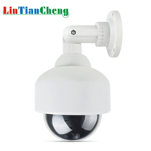 LINTIANCHENG Fake Home Security Video Surveillance With Red Led Outdoor Waterproof CCTV Dummy Camera Dome Free Shipping smarsecur cheap price outdoor waterproof ir cctv dummy dome of the led fake surveillance security camera