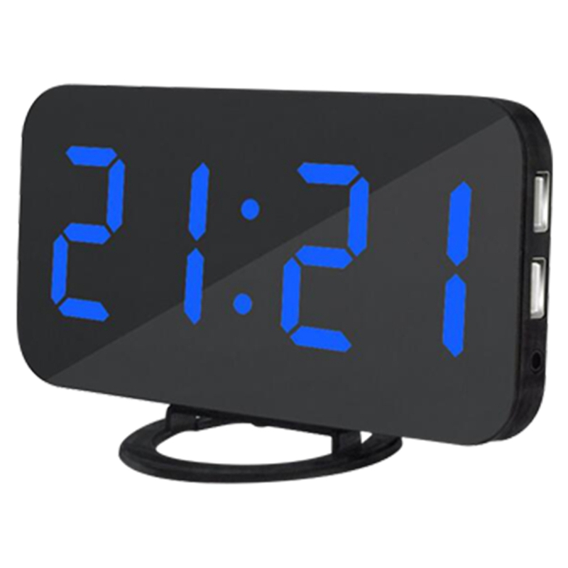 New Blue Backlight Digital Alarm Electronic Desktop Table Led Clock Watch Snooze Reloj Led Displays Time Electronic Adapter Tool Computer Cables & Connectors