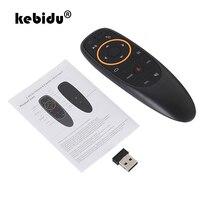 Kebidu g10 controle de voz 2.4g sem fio g20s voar ar mouse teclado detecção de movimento mini controle remoto para android tv box pc