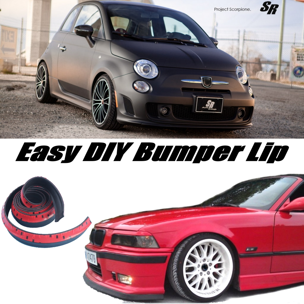 Us 26 68 24 Off Bumper Lip Deflector Lips For Fiat Abarth 500 500c Front Spoiler Skirt For Car View Tuning Body Kit Strip In Front Skirt From