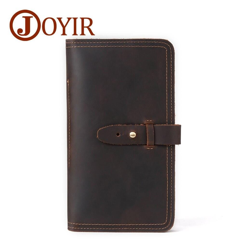 Marque célèbre hommes en cuir véritable portefeuilles Hasp porte-cartes long passeport couverture voyage grande capacité portefeuille mâle stylo poche