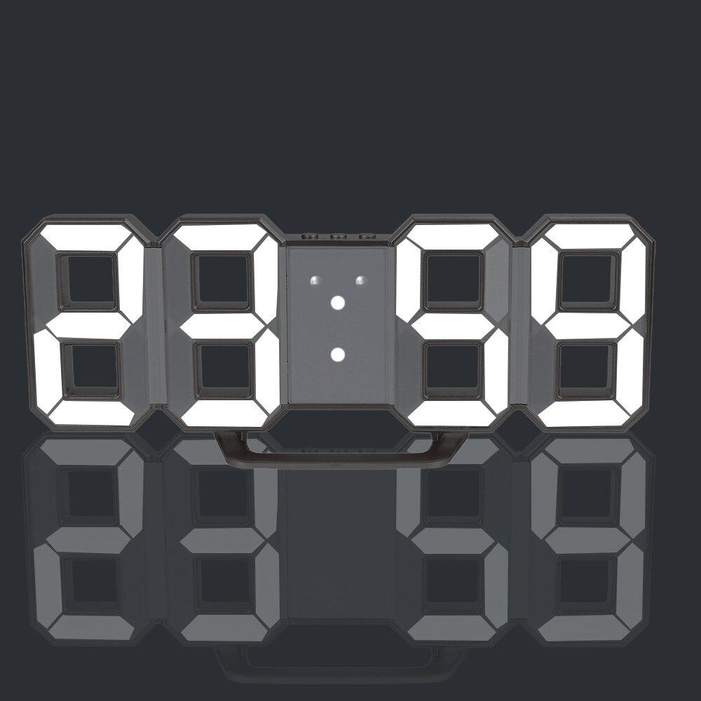 3D LED Wall Clock Modern Digital Table Desktop Alarm Clock For Home Living Room Office 24 Or 12 Hour