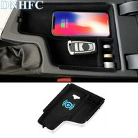 DNHFC Mobile phone wireless charging in the middle of the store content box For BMW F30 F31 F32 F34 320 2012 2017 LHD