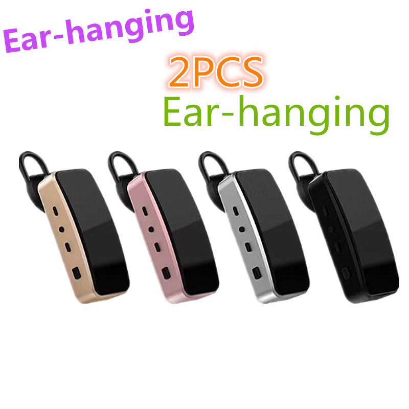 2PCS Ear-Hanging Walkie Talkie Mini 16 Channels Leixen Q2 Two-Way Radio USB Port Free License Woki Toki  FRS Small Size