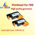 2x печатающая головка совместима с hp 789 CH612A Cyan Light Cyan Замена совместима для принтера hp 789 L25500