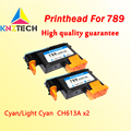 2x druckkopf kompatibel für hp 789 CH612A Cyan Licht Cyan ersatz kompatibel für hp 789 L25500 drucker